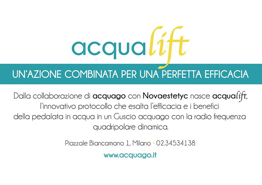Dalla collaborazione di acquago con Novaestetyc nasce acqualift